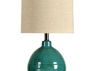 Turquoise  Porch   Den Sulphite Turquoise Ceramic Accent Table lamp
