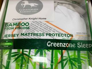 King  Rayon from Bamboo Jersey Waterproof Mattress Protector   White