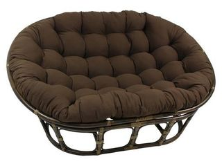 Blazing Needles 65 inch Solid Double Papasan Cushion  Cushion only