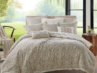 Ellen Tracy Chandler 3 Piece Premium Cotton Duvet Cover Set   Multi