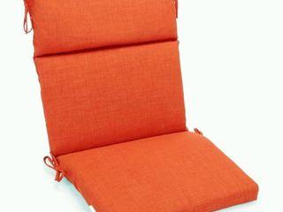 Tangerine Dream  Blazing Needles 3 Section Indoor Outdoor Chair Cushion