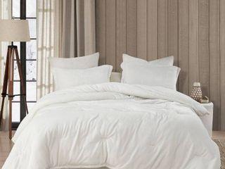 Coma Inducer Oversized Oversized Comforter   Wait Oh What   Farmhouse White Retail 122 49