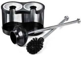 ToiletTree Products Modern Deluxe Freestanding Toilet Brush and Plunger Combo