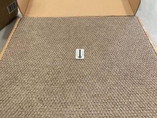 4urFloor 18 X18  Hobnail Carpet Tile Taupe  set of 16 squares