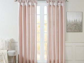 120 x50  lillian Twisted Tab lined light Filtering Curtain Blush