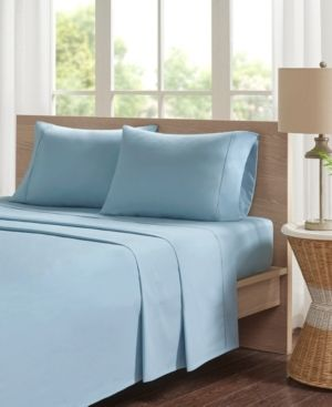 Full   Teal  Madison Park Peached Percale Cotton Bed Sheet Set
