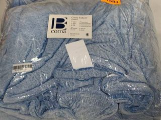 King  BYB Coma Inducer Frosted Pacific Blue Comforter Retail 131 99