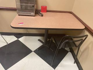 Table With One Chair  Buyer Responsible For Removal