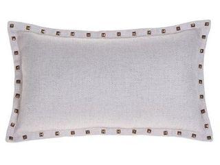 Sunflower  Herringbone Studded lumbar Pillow Cover 12 x 20