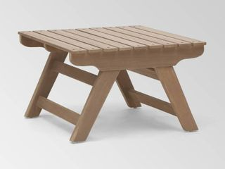 Gray Finish Sedona Outdoor Wooden Side Table by Christopher Knight Home