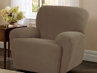 Chocolate Maytex Stretch Pixel 4 Piece Recliner Furniture Slipcover