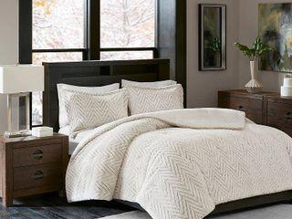 Twin Twin Xl Madison Park Aurora Ivory Extra Warm Ultra Plush and Cozy Plush Down Alternative Comforter Set