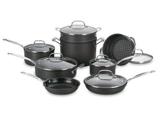 Null  Cuisinart Chef s Classic Nonstick Hard Anodized 14 Piece Cookware Set  Black  Retail 209 99