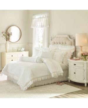 King   White  Five Queens Court Emelia Matelasse Comforter Set  Retail 278 35