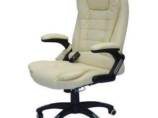 HomCom Black Ergonomic Heated Massage Executive Chair  Retail 186 99