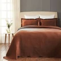 cappuccino   King  Superior Designer Celtic Circles Scalloped Bedspread  Retail 114 99
