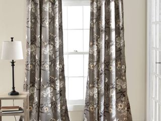 Pair of The Gray Barn Dogwood Floral Curtain Panel Pair Retail 93 49