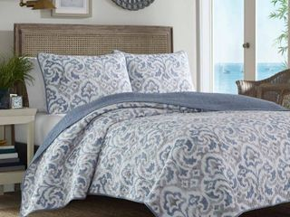 Full  Queen Tommy Bahama Cape Verde 3 piece Quilt Set Retail 94 49