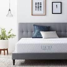 lUCID Comfort Collection 10 inch luxury Gel Memory Foam Mattress  Retail 199 99