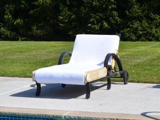 White Authentic Turkish Cotton Standard Size Chaise lounge Towel White Cover