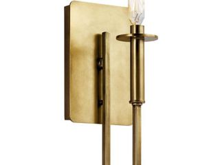 Null  Kichler lighting Alden Collection 1 light Natural Brass Wall Sconce  Retail 139 99