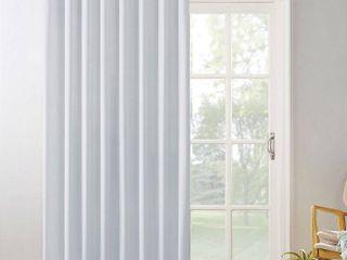 Dove White 100  x 84  Sun Zero Hayden Patio Extra Wide Blackout Grommet Sliding Patio Door Curtain Panel
