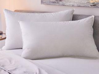 Single Medium Standard 1221 Bedding Sateen White Goose Down Pillow Retail  139 99