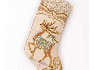 Reindeer Needlepoint Stocking
