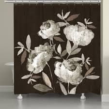 Black 71x74 Peonies On Ebony Shower Curtain Retail  89 99