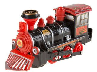 Black  Hey  Play  locomotive Engine Car with Battery Powered lights Toy Train