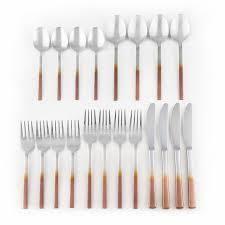 Null  Cambridge Silversmiths Kelvin Copper Ombre Satin Mirror 18 8  20 Piece Flatware Set   20 Piece set  Retail 75 48