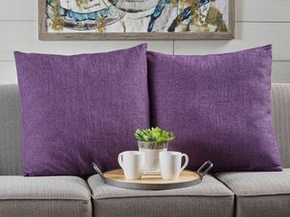 muted purple  Saskia Fabric Pillows  Set of 2  by Christopher Knight Home  Retail 89 49