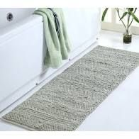 Supersoft and Absorbent Braided and loop Chenille Oversized Bath Rugs  22 in x 60 in