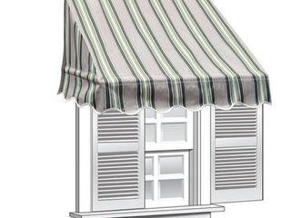 Multi Striped Green AlEKO 6 feet X 2 feet Window Awning Door Canopy Sun Rain Shade Shelter