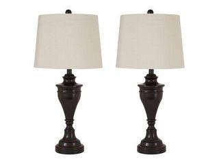 Darlita Bronze Finish 30 Inch Metal Table lamps   Set of 2 Retail 107 99