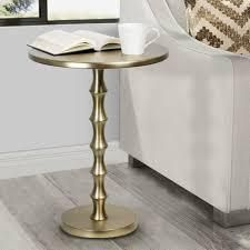 Silver Orchid Albany 26 75 inch Plated Gold Metal Accent Table  Retail 93 99