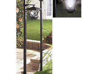 Black SB Modern Home Solar lED Street lamp Post
