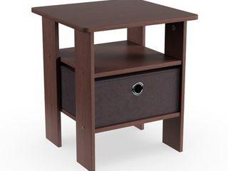 ne table Dark brown Porch   Den Cooper Square End Table  Nightstand