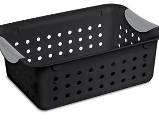 Black Case of 12 Black Sterilite Small Baskets