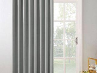 Silver Gray   100  x 84  Sun Zero Hayden Patio Extra Wide Blackout Grommet Sliding Patio Door Curtain Panel