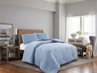 Baby Blue King 3 Piece Vintage Comforter Set