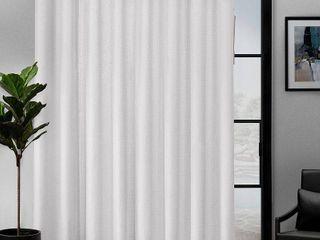 108x84   Winter White  ATI Home loha Patio Grommet Top Single Curtain Panel