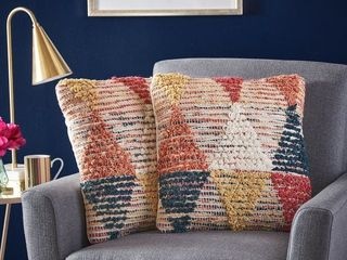 Specialty Multi Cierra Handcrafted Boho Fabric Pillows  Set of 2  by Christopher Knight Home