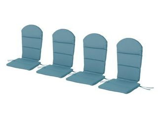 Malibu Outdoor Adirondack Chair Cushion  Set of 4  by Christopher Knight Home Retail 151 99