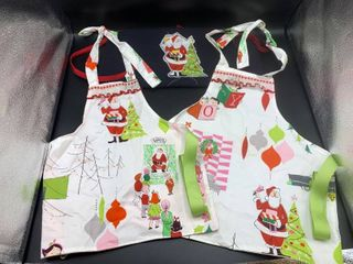 lot of 3 Childrens Christmas Aprons