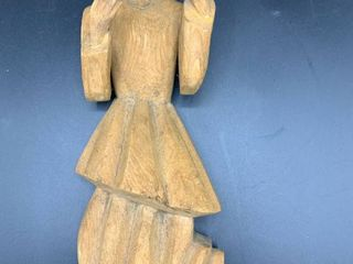 Vintage Hand Carved Beseeching lady Wall Decor