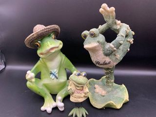 Fun lot of 3 Frogs