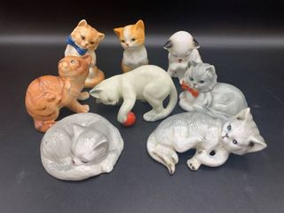 lot of 8   Danbury Cats of Character Collection   Bone China