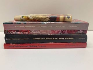 Mixed lot of 5 Christmas Cook and Craft Books