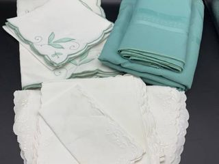 lot of 2 Placemat and Napkin Sets and 1 Tablecloth with Napkins